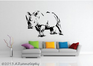 Samolepky na zeď - Nosorožec