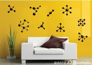 Samolepky na zeď - Molekuly