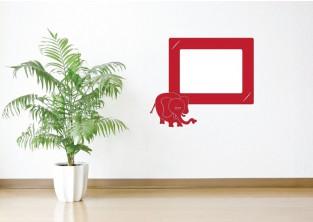 Samolepky na zeď - Fotorámeček Slon