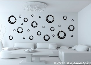Samolepky na zeď - Moderní bublinky
