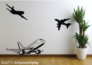 Samolepky na zeď - Letadla