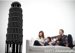 Samolepky na zeď - Šikmá věž Pisa