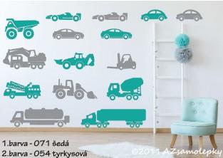Dětské samolepky na zeď - Maxi - auta