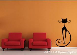 Samolepky na zeď - Moderní kočka II