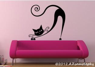 Samolepky na zeď - Moderní kočka V