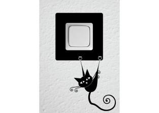 Samolepky pod vypínač - Moderní kočka II