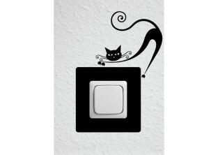 Samolepky pod vypínač - Moderní kočka III