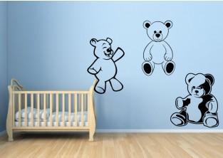 Dětské samolepky na zeď - Medvědí kamarádi