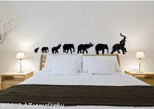 Samolepky na zeď - Sloni pro štěstí