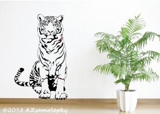 Samolepky na zeď - Sedící tygr