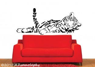 Samolepky na zeď - Spící tygr