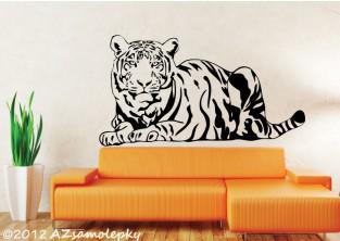 Samolepky na zeď - Ležící tygr