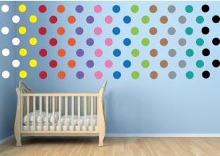 Dětské samolepky na zeď - Maxi - puntíky