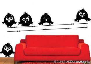 Samolepky na zeď - Veselí ptáčci