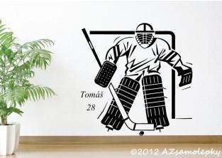 Samolepky na zeď - Lední hokej-brankář