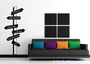 Samolepky na zeď - Rozcestník - místnosti