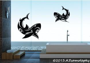 Samolepky na zeď - Žraločí duo Tatoo
