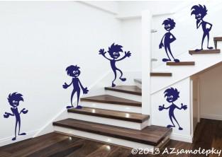 Dětské samolepky na zeď - Klučičí nezbedové