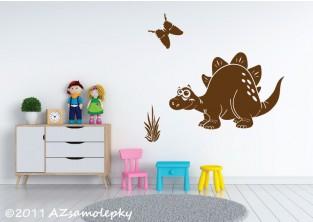 Dětské samolepky na zeď - Veselý stegosaurus