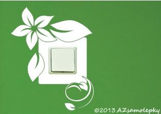 Samolepky pod vypínač - Pnoucí květina