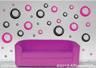 Samolepky na zeď - Moderní DUO bublinky