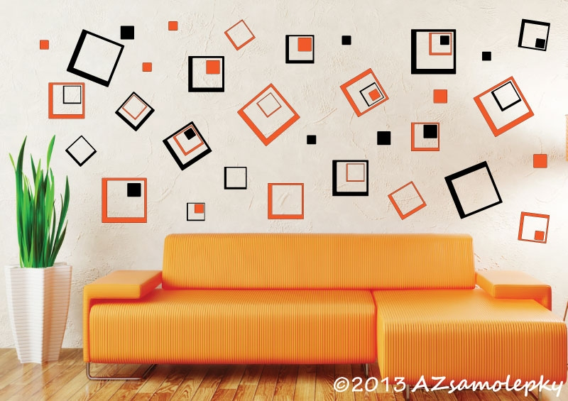 Samolepky na zeď - Moderní DUO čtverce