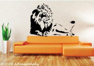 Samolepky na zeď - Ležící lev