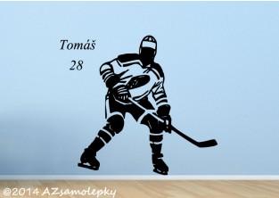 Samolepky na zeď - Hokejista
