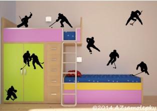 Samolepky na zeď - Kolekce hokejistů