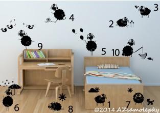 Dětské samolepky na zeď - Počítání oveček