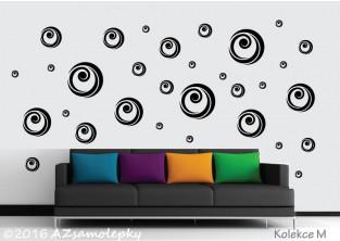 Samolepky na zeď - Moderní bublinky II