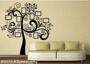 Samolepky na zeď - Strom s fotorámečky