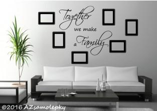 Samolepky na zeď-Nápis-FOTO-Together a Family