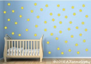 Dětské samolepky na zeď - Moře hvězdiček