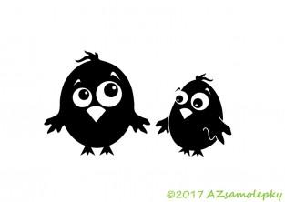 Samolepky na auto - Veselí ptáčci