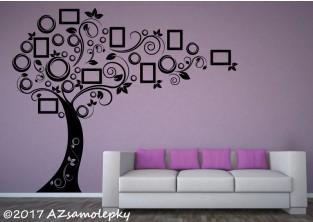 Samolepky na zeď - FOTO strom - moderní bublinky
