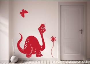 Dětské samolepky na zeď - Veselý brontosaurus