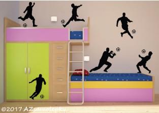 Samolepky na zeď - Kolekce fotbalistů