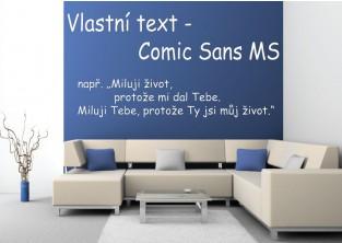 Samolepky na zeď-Vlastní text-Comic Sans