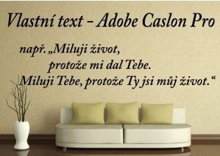 Samolepky na zeď-Vlastní text-Adobe Caslon Pro