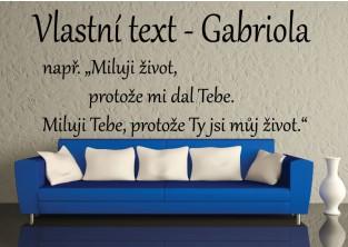 Samolepky na zeď-Vlastní text-Gabriola