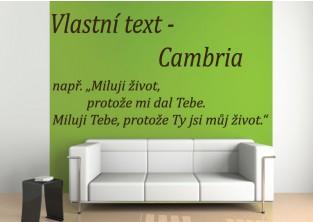 Samolepky na zeď-Vlastní text-Cambria