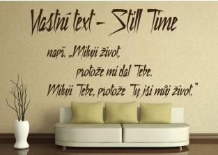 Samolepky na zeď-Vlastní text-Still Time