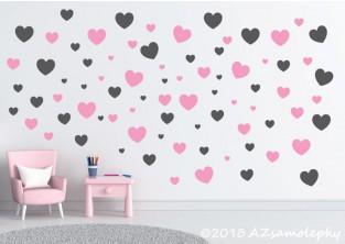 Dětské samolepky na zeď - DUO srdíčka